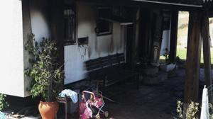 Casa donde se produjo el incendio en El Palmar