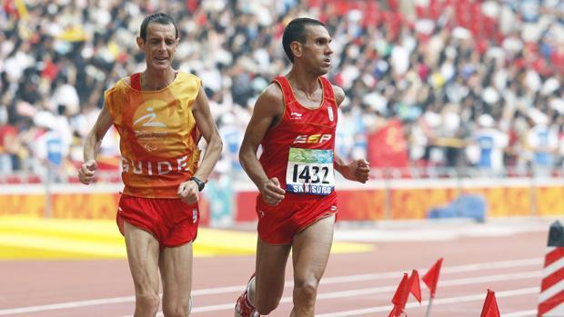 Manuel Garnica durante los Juegos Paralímpicos de Pekín