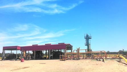 Imagen de las instalaciones de Gas natural en Almonte