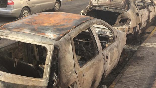 Estado en el que quedaron los coches en Gribraleón