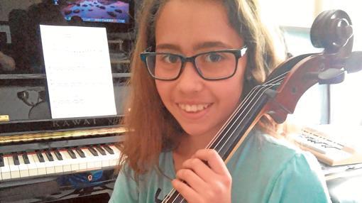 Marta, que pasó la prueba de violonchelo y no tiene plaza en Jaén