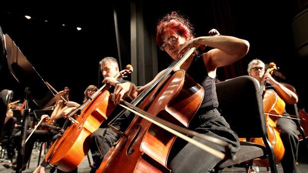 La Orquesta de Córdoba, durante un concierto en el Teatro Góngora