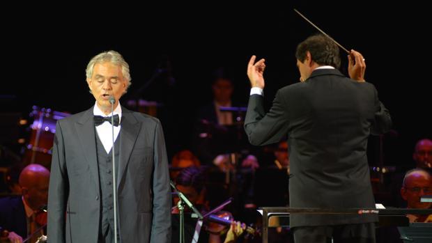 Andrea Bocelli, en su actuación en Marbella en 2015