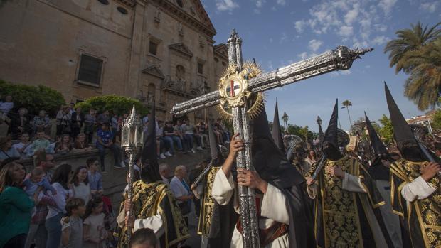 Cruz de guía de la hermandad del Cristo de Gracia