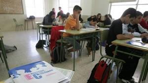 Alumnos de un instituto de Andalucía durante una jornada lectiva