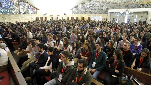 Jóvenes en un congreso de medicina celebrado en Córdoba el año pasado