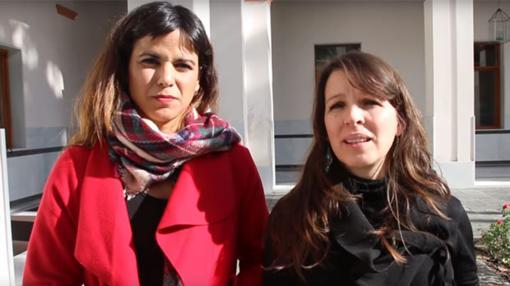 Teresa Rodríguez, junto a su secretaria de Municipalismo, Rocío Van der Heide