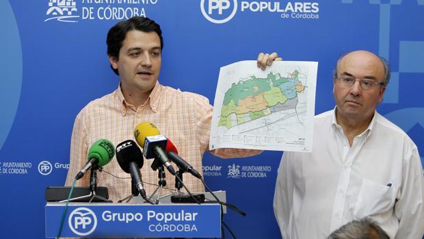 José María Bellido y Luis Martín durante una rueda de prensa