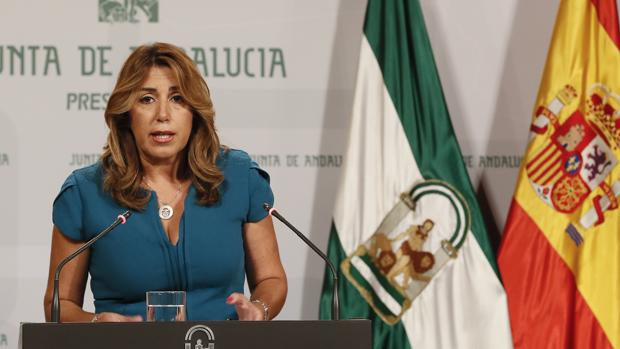 Susana Díaz, esta mañana en San Telmo