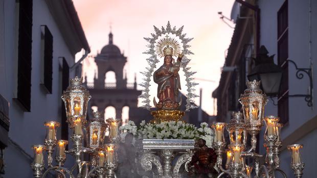 Nuestra Señora de Villaviciosa, durante su procesión