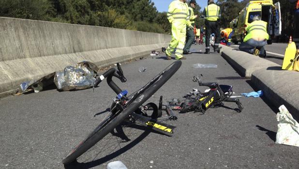 Imagen de archivo de un accidente en el que se vio involucrado un ciclista