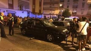 Estado en el que quedó el vehículo tras el atropello en Huelva
