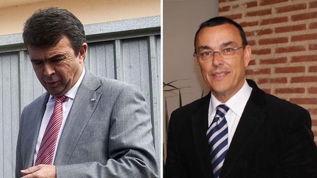 José Martín, exalcalde de Aljaraque e Ignacio Caraballo, presidente de la Diputación de Huelva