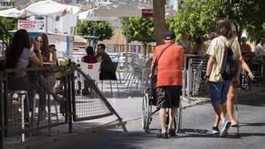 Lugar de la calle Goya en Huelva donde tuvo lugar el atropello