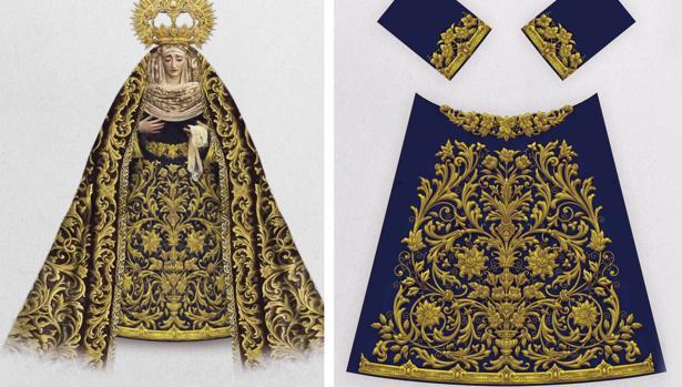 Nueva saya de la Virgen de Gracia y Amparo