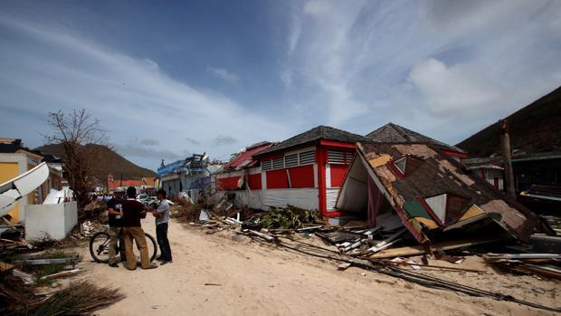 Casas destrozadas en Sain Martin por el paso del huracán Irma
