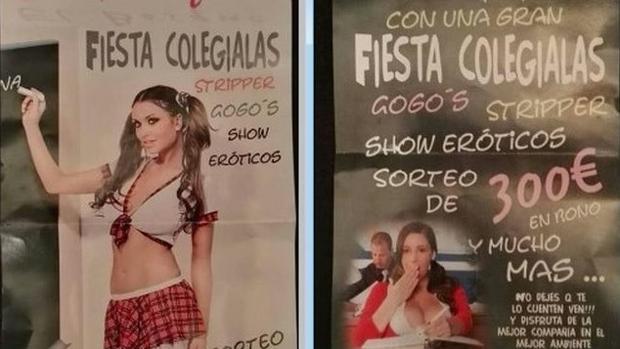 Los carteles de la polémica de un prostíbulo de Cartaya