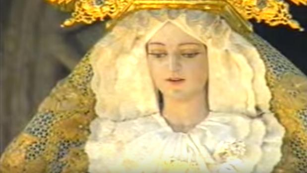 La Virgen de la Victoria, cuando procesionaba el Domingo de Ramos