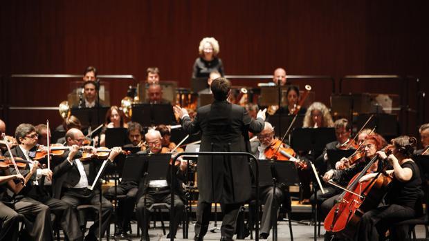 La Orquesta de Córdoba durante un concierto en el Gran Teatro
