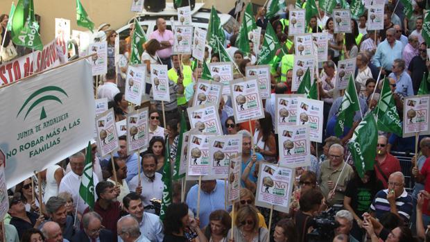 Concentración en Córdoba contra el impuesto de Sucesiones el 14 de septiembre