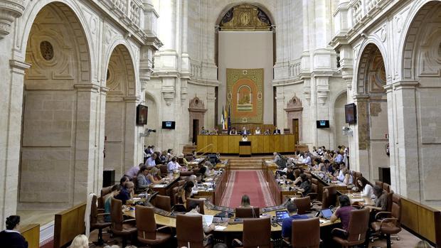 Imagen de una sesión plenaria en el Parlamento de Andalucía