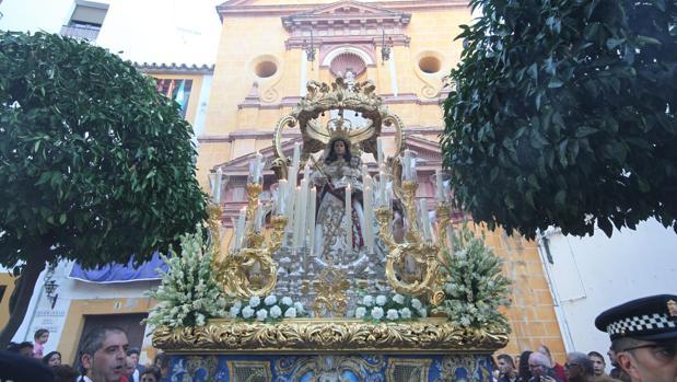 Nuestra Señora del Socorro, en su salida procesional
