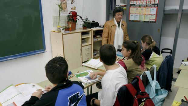Clase de Primaria en un colegio