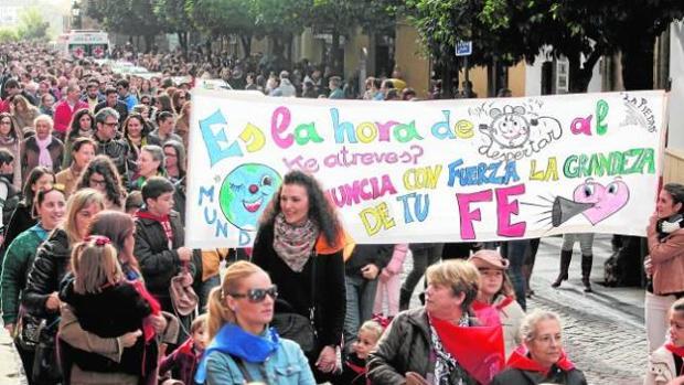 Protesta de las escuelas católicas en Córdoba