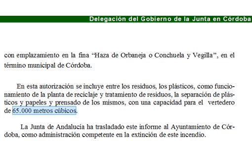 Captura de la nota de prensa remitida por la Junta