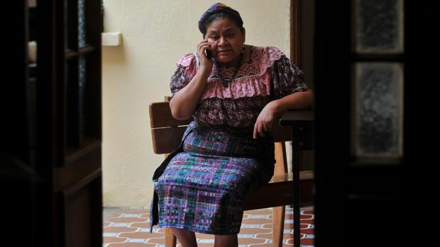 La premio nobel de la Paz guatemalteca, Rigoberta Menchú