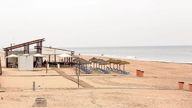 Un chiringuito en la costa andaluza