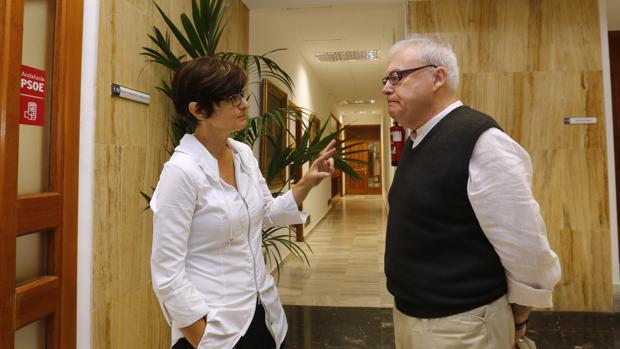 La delegada de Medio Ambiente, Amparo Pernichi, junto a Emilio Aumente