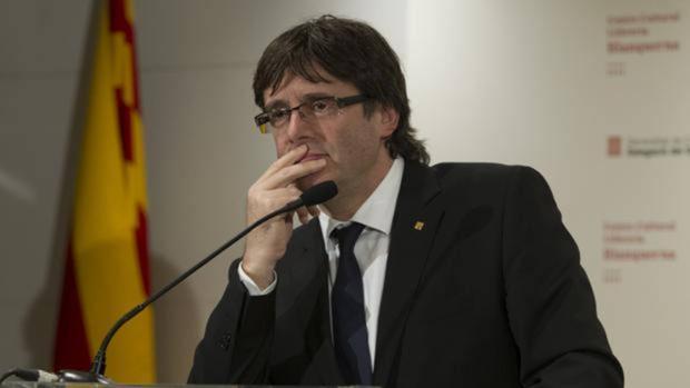 Puigdemont en una comparecencia ante la prensa