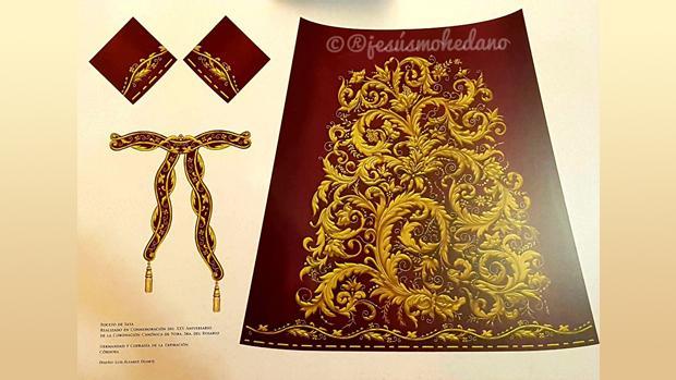 Diseño de la nueva saya de la Virgen del Rosario
