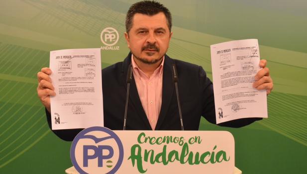 Martín en la rueda de prensa que dio el miércoles en Sevilla