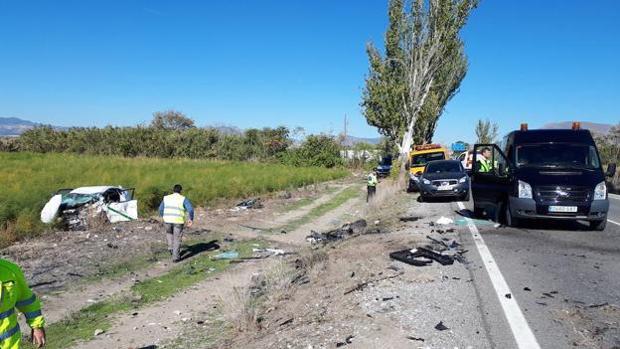 Dos personas han muerto en un accidente en Santa Fe (Granada)