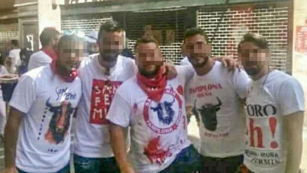 Algunos de los acusados de la presunta violación a dos jóvenes, una en los Sanfermines y otra en Pozoblanco