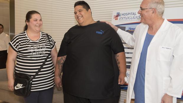 Juan Manuel Heredia hace un año, antes de perder peso