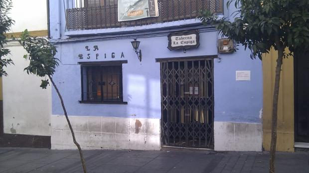 Fachada de la anigua taberna La Espiga, en la calle San Pablo