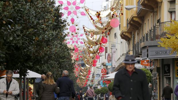 Decoración navideña instalada en Cruz Conde