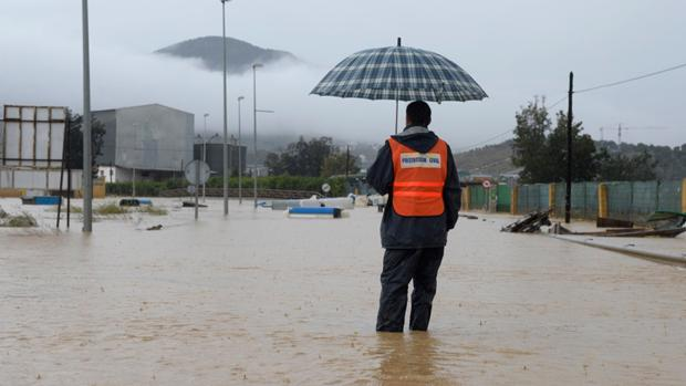 Inundaciones en la zona del Guadalhorce, estación Cártama