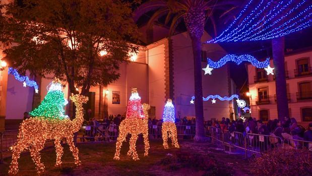 Los Reyes Magos, centro de atención de la iluminación navideña en Pozoblanco