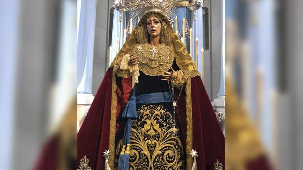 La Virgen de la Concepción con la faja del estado mayor
