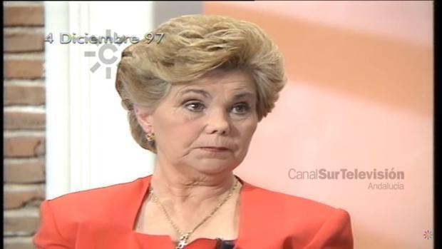 Ana Orantes, en el programa de Canal Sur al que acudió