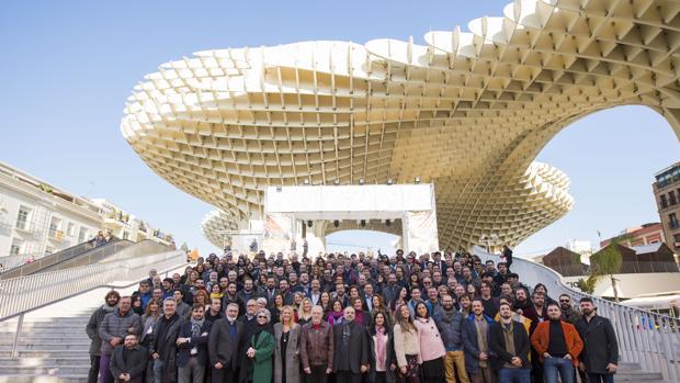 Foto de grupo de los nominados