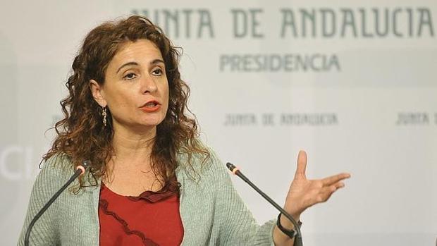La consejera María Jesús Montero