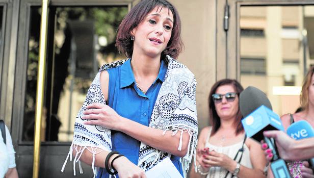 Juana Rivas en una de sus comparecencias en el Juzgado