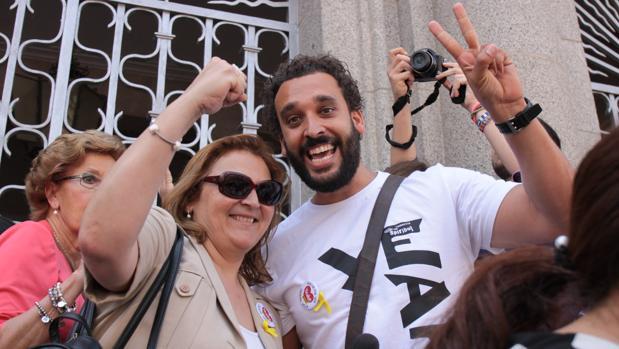 Paloma Hergueta y Spiriman, en una manifestación conjunta por la sanidad pública de calidad