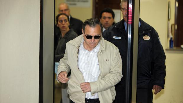 Antonio Garrido Santoyo, tras declarar en el juzgado de Sevilla