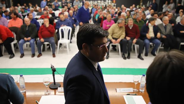 El presidente del Córdoba CF, Jesús León, el miércoles en el Consejo Consultivo